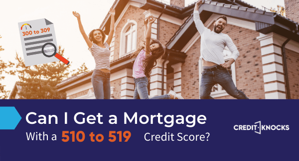 home mortgage loan credit score 510