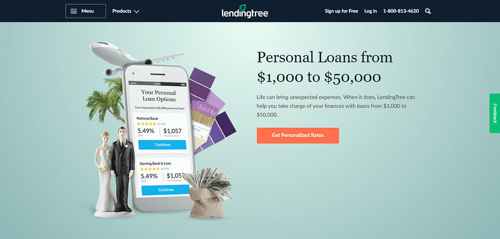 lendingtree personal home page