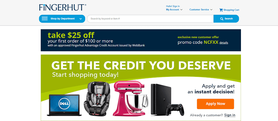 fingerhut home page account
