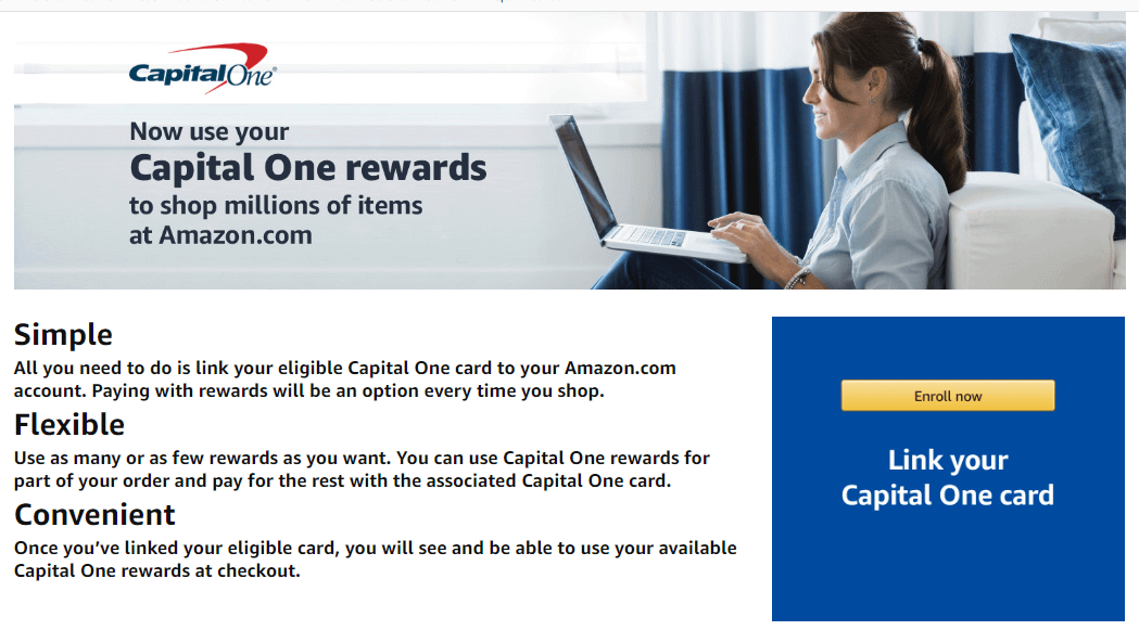 use capital one quicksilver  rewards to shop at amazon
