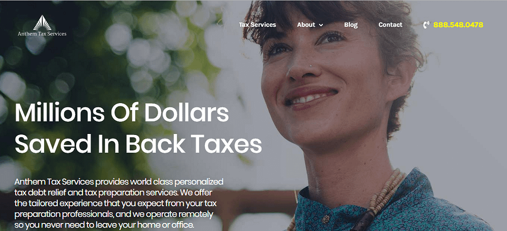 anthem tax services home page