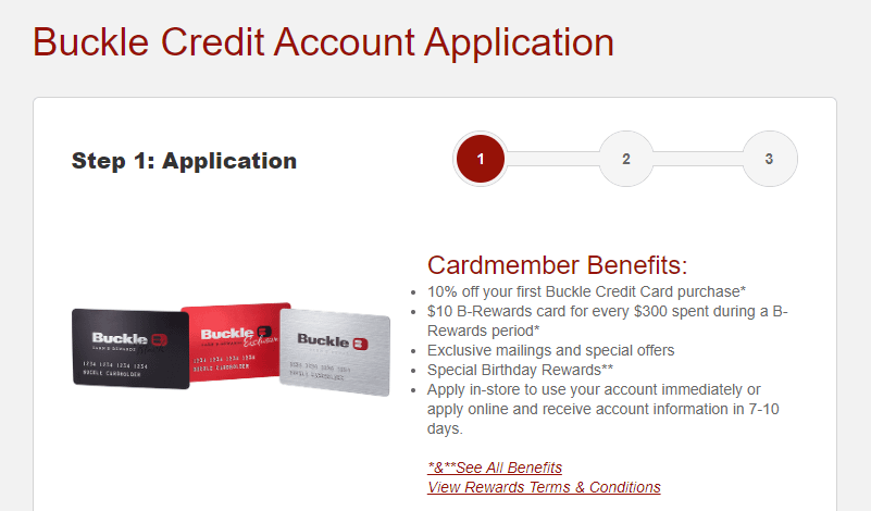 buckle apply online, apply for buckle credit card online, apply buckle credit card, apply at the buckle online