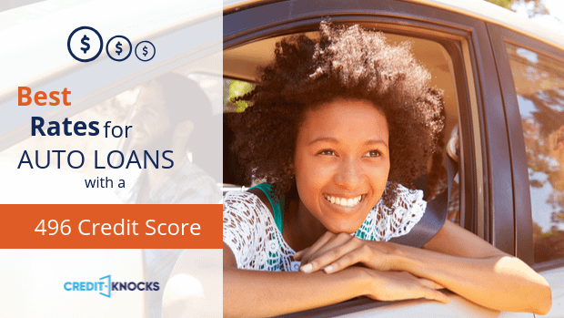 496 auto loan rate car loan interest rate with 496 credit score auto loan rate