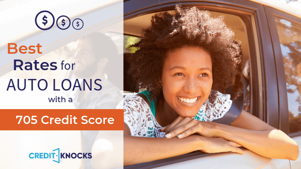 705 credit score Best Interest rates new used refinance car loan