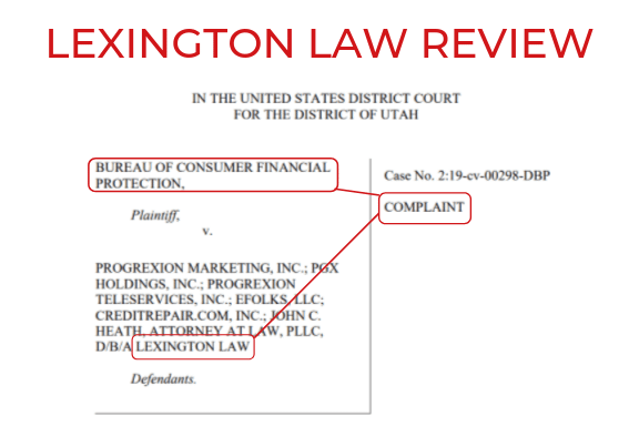 LEXINGTON LAW Firm credit repair REVIEW 2019