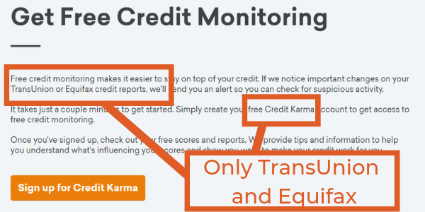 Free Credit Monitoring Services TransUnion and Equifax