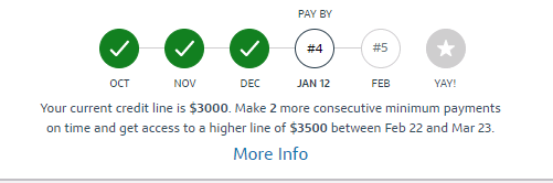 capital one quicksilver higher credit line reward for on time payments