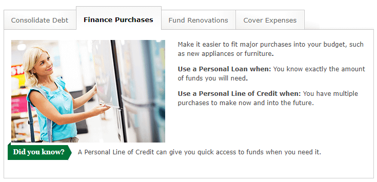wells fargo personal loan personal line of credit uses finance purchases