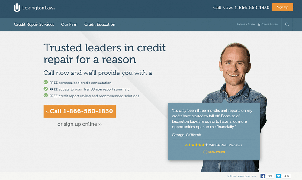 Lexington Law review credit repair service