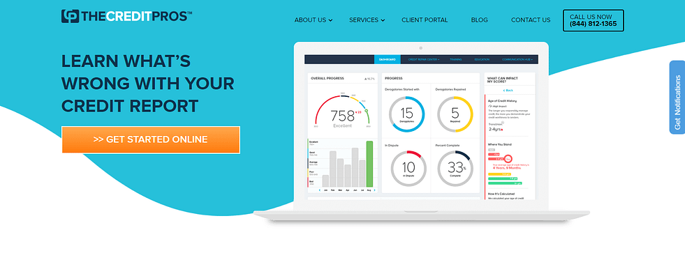 the credit pros homepage