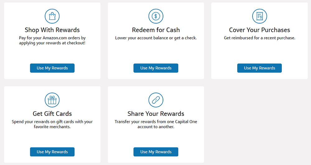capital one quicksilver cash back reward options