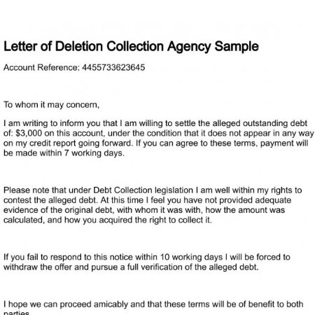 pay for deletion letter